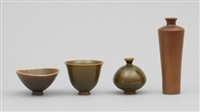 vaser två stycken samt skålar två stycken (4 works) by berndt friberg
