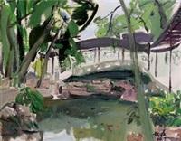 苏州网师园 布面 油画 by du pu