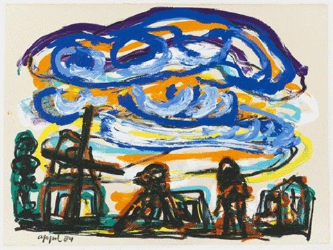 clouds over italy by karel appel