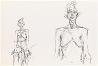 derrière le miroir (4 dbl-page works) by alberto giacometti