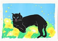 composition with cat by walasse ting