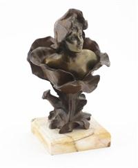 art nouveau bust by henri godet