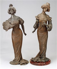 cotillon (pair) by lucien (charles edouard) alliot