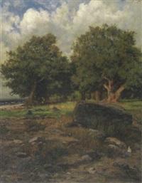 eichen am strand des ammersees by graf friedrich wilhelm bülow von dennewitz
