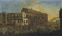 processione di carri allegorici carnascialeschi a napoli, largo di palazzo by alessandro d' anna