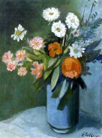 feldblumen in vase by evarist adam weber