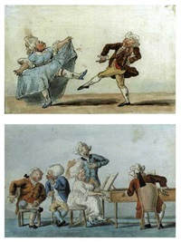 the execution neat, but the air intolerable (+ the dancing lesson; pair) by henry edward bunbury