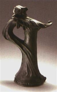 vase mit mädchen by otto eckmann