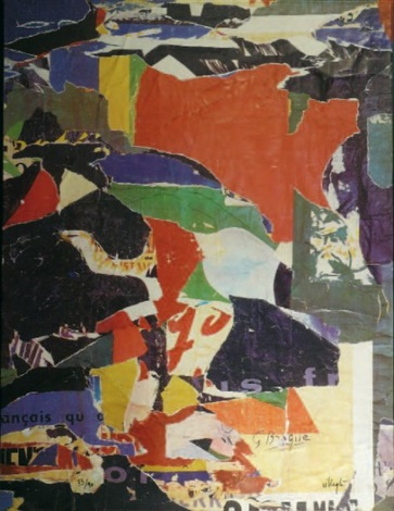 sans titre by g braque and jacques mahé de la villeglé