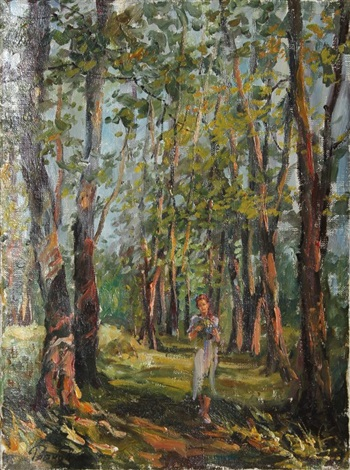 girl in the forest by labakov