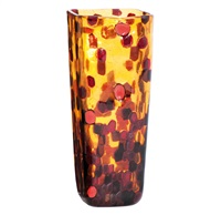 a venini glass vase marte by gianni versace