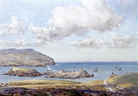 the sound - looking towards the calf of man by john ernest aitken