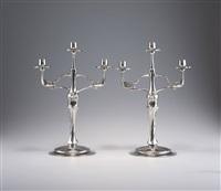 kerzenleuchter (pair) by friedrich adler