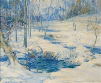 winter stream by thomas herbert smith
