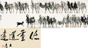 驼引图卷 frontispiece by liu dawei