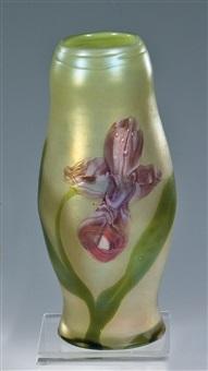 marqueterie-vase mit frauenschuh by ferdinand von poschinger