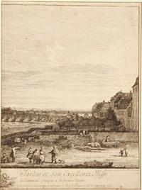 perspective de la galerie, es du jardin de son excellence ggr. le compte de bruhl... by bernardo bellotto