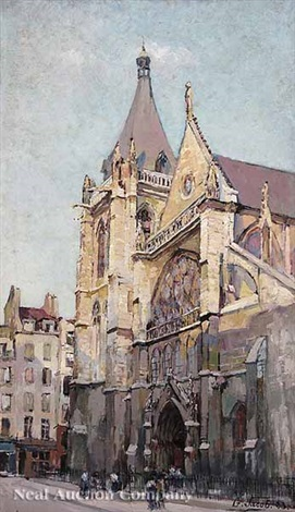 the church of saint severin paris by g jacob