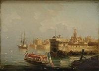 hamn vid medelhavet by julien gustave marius