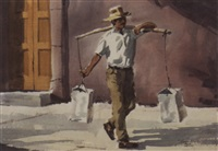 man carrying sacks by tom hill