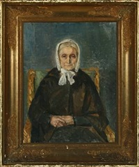 portrait of mrs brøndum by helga ancher