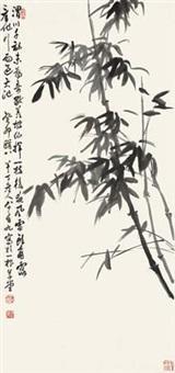 墨竹图 by chen banding