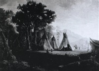 indian encampment by j. hart