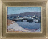 harbor at evening by george a. renouard