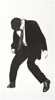 men in the cities series: james by robert longo