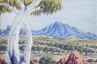 australian hills by oscar namatjira