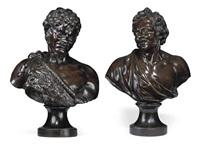 faun (+ man; pair) by massimiliano (benzi) soldani