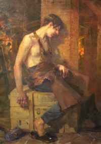 resting blacksmith by oumbertos argyros