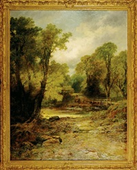 a devonshire lane near ashburton by leopold rivers
