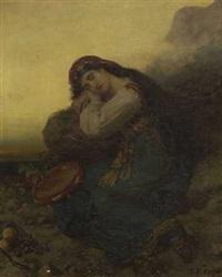 ruhende zigeunerin by theodor köppen