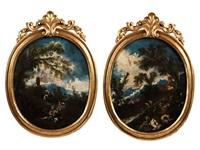 landschaftsbilder mit religiöser figurenstaffage (pair) by alessandro magnasco