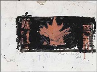 maple leaf / untitled (verso) by john scott