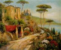 italian coastal scene by jean corti
