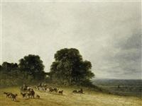 landschaft mit bauern und vieh bei saint-denis (landschaft mit hirten) by georges michel