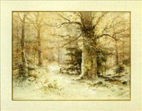 autumn woodland scene by dubois fenelon hasbrouck