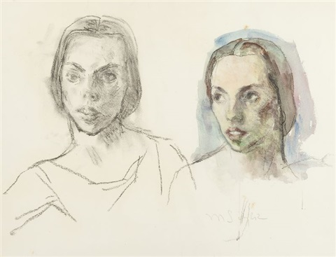 two heads by moses soyer