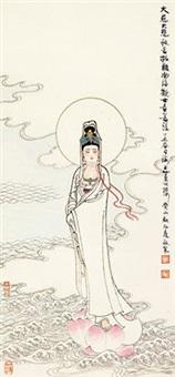 观音 镜心 纸本 by gu bingxin