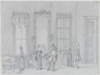 bühnenszenen aus dem mainzer theater (11 works, various sizes) by johann jakob hoch