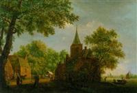 holländische kirche und kapelle am wasser by pieter jan van liender