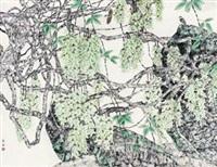 鸟鸣山更幽 (flowers and bird) by wang qingli