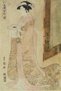 rei (from jin-gi-rei-chi-shin) (ôban) by utagawa toyokuni (toyokuni i)