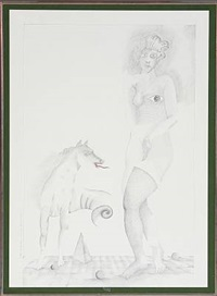 venus med fabeldyr (venus with monster) by claus bojesen