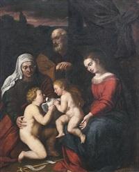 die heilige familie mit der heiligen elisabeth und dem johannesknaben by anonymous-italian (17)