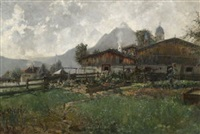 bauernhof in mittenwald by carl oskar arends
