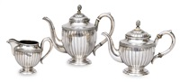 coffee and tea service (set of 3) by nikolai fedorovich kemper