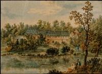 ansicht des klosters gronau, aus dem hopfengärtlein by carl philipp fohr